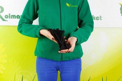 Długie szpilki plastikowe 19cm do mocowania agrotkaniny i agrowłókniny (50 szt.)