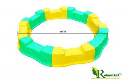 Duża składana piaskownica plastikowa 170cm + Gratis dno z agrowłókniny