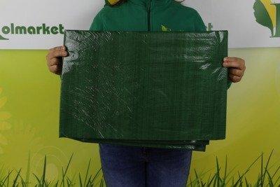 Gruba plandeka okryciowa zielona 4x6m 90gram