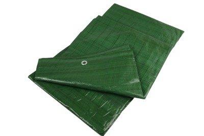 Gruba plandeka okryciowa zielona 4x8m 90gram