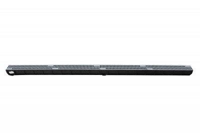 Kanał do odwodnienia liniowego z plastikowym rusztem 90x90x1000mm 10szt + Zaślepka końcowa 2szt GRATIS!