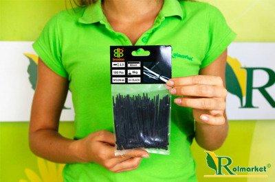 Opaski kablowe czarne 2,5x80 mm (100 szt.)