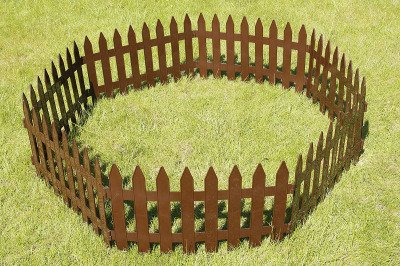 Płotek ogrodowy Garden Classic IPŁSU brązowy 3,2m