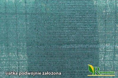 Polska siatka cieniująca, osłonowa na ogrodzenia 1,5x200m 60%